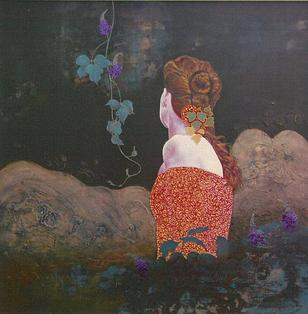 大場尚文「原阿佐緒・オマージュ‐涙痕」1987年.jpgのサムネール画像