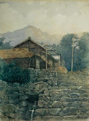 浅井 忠「農家風景」.jpgのサムネール画像