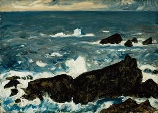 藤島武二「岩と波」.jpgのサムネール画像