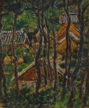 椿貞雄「林間の家」1955年.JPG