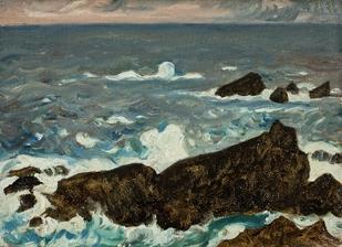 藤島武二《岩と波(潮岬)》1931年 (800x581).jpg