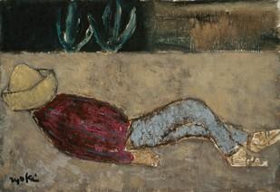 鳥海青児《昼寝するメキシコ人》1964年.jpg